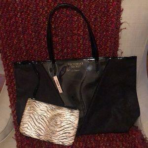 Victoria's Secret tote w/ attached Makeup bag